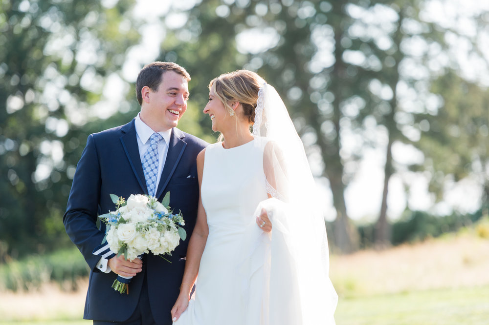 bride and groom at the Patterson Club wedding reception