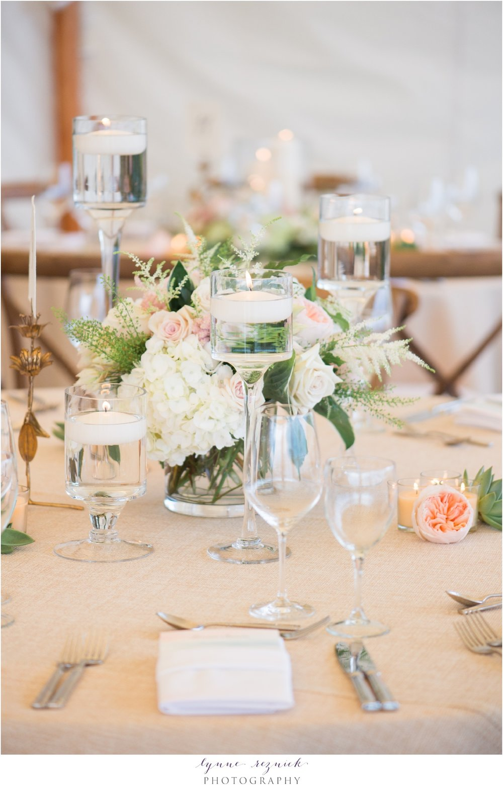 chic candlelight and flower tablescape styled by stella day events