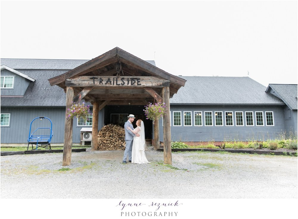 Trailside Inn Overhang rainy wedding Killington VT