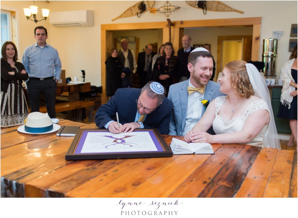 ketubah signing at trailside inn wedding