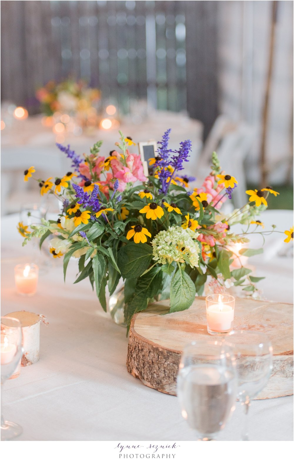 rustic floral centerpieces by Pittsfield Garden Center VT