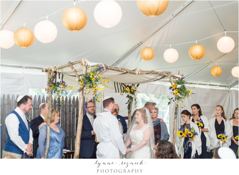 jewish ceremony under tent at trailside inn killington vt wedding
