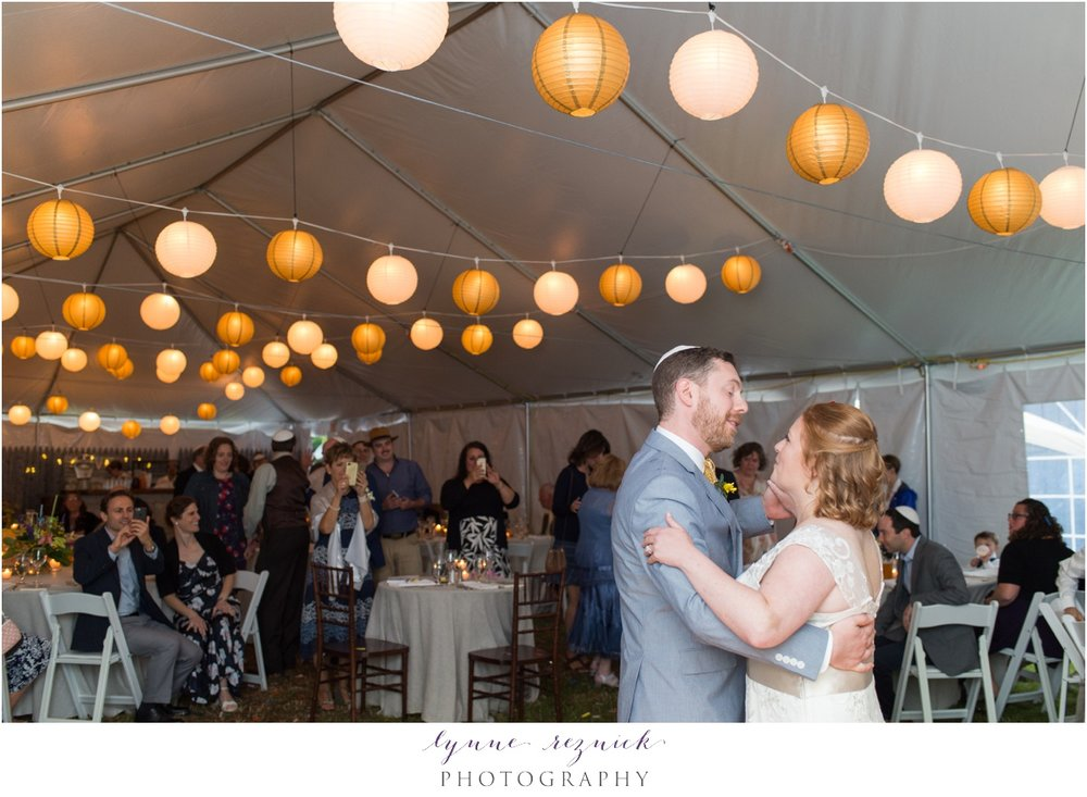 tented reception first dance trailside inn wedding vt