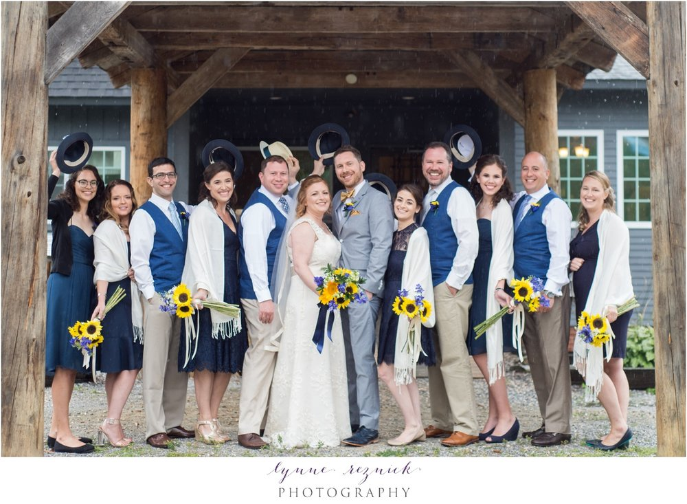 bridal party fun at the trailside inn  killington vt
