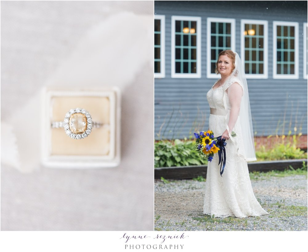 mrs box and engagement ring bride at wedding at trailside inn