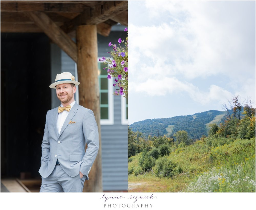 dapper groom at trailside inn wedding vt