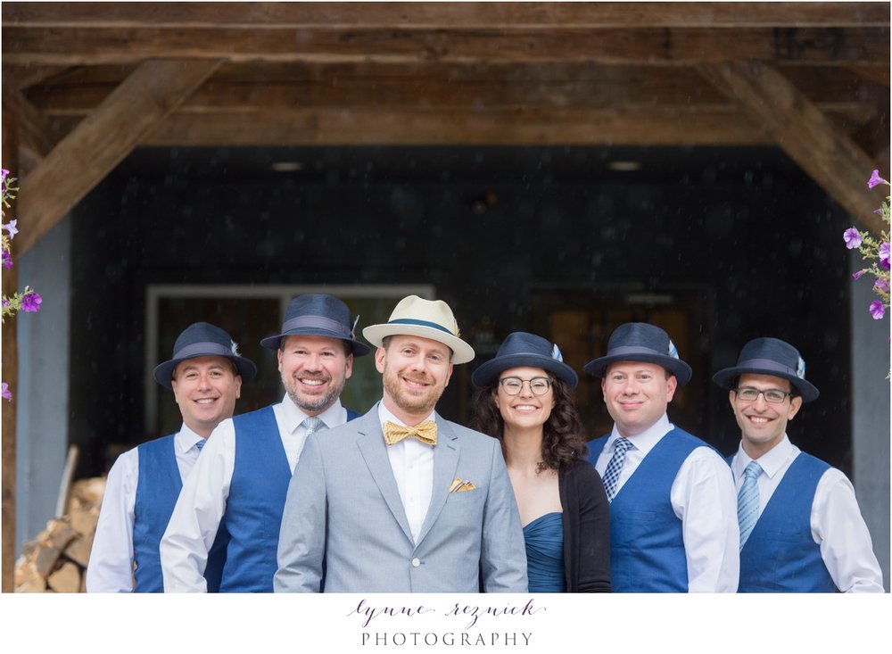 groomsmen at trailside inn wedding