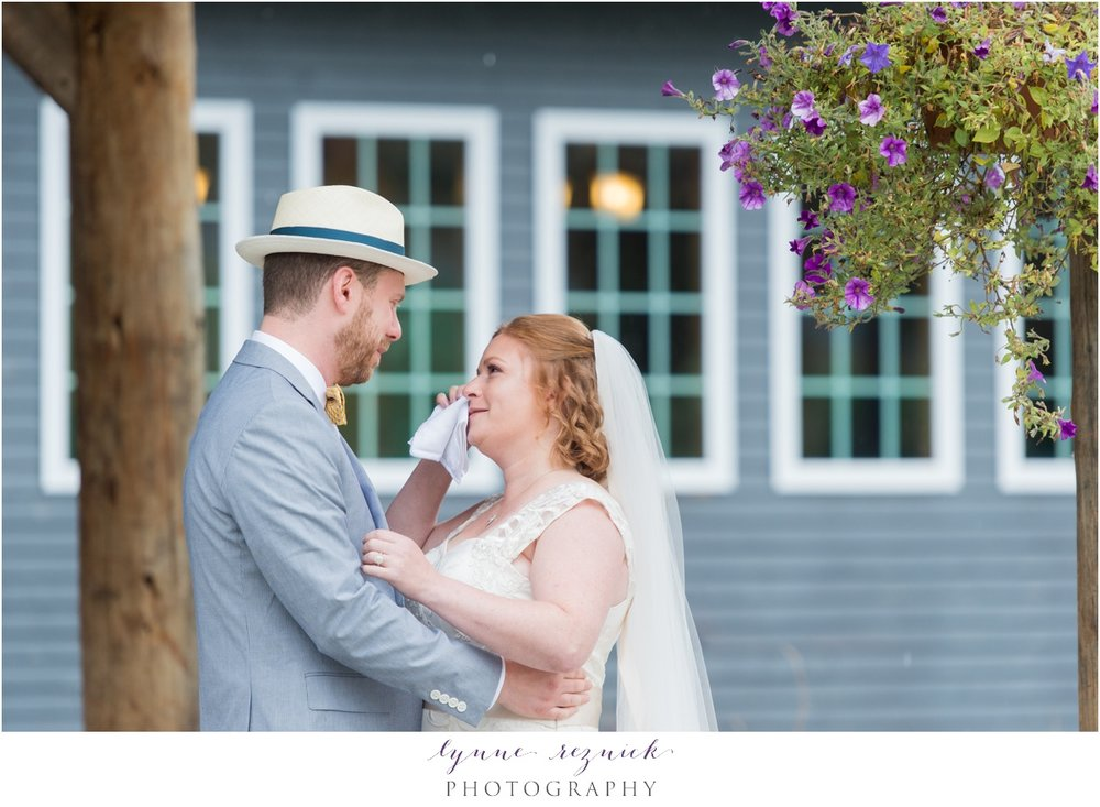 emotional wedding day first look at tarilside inn vt