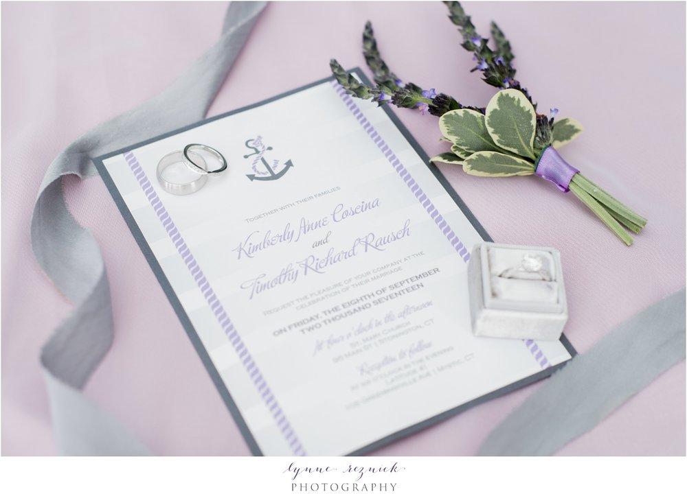 nautical purple invitation suite Latitude 41 wedding