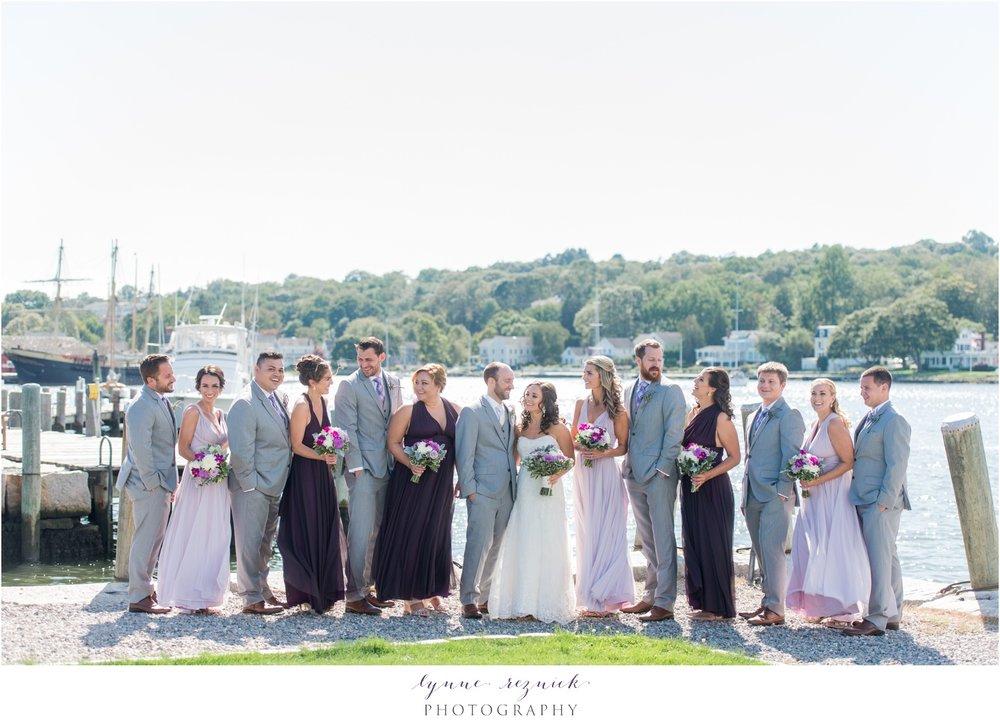 sunny bridal party photos Latitude 41 Mystic Seaport wedding