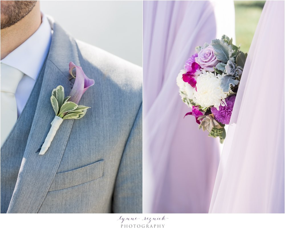 stunning pink and purple wedding bouquet and flowers cala lilly