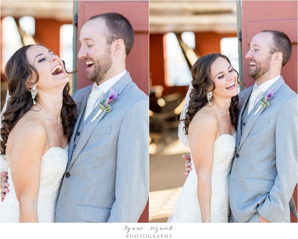 bride and groom wedding portraits sunset Mystic Seaport Latitude 41