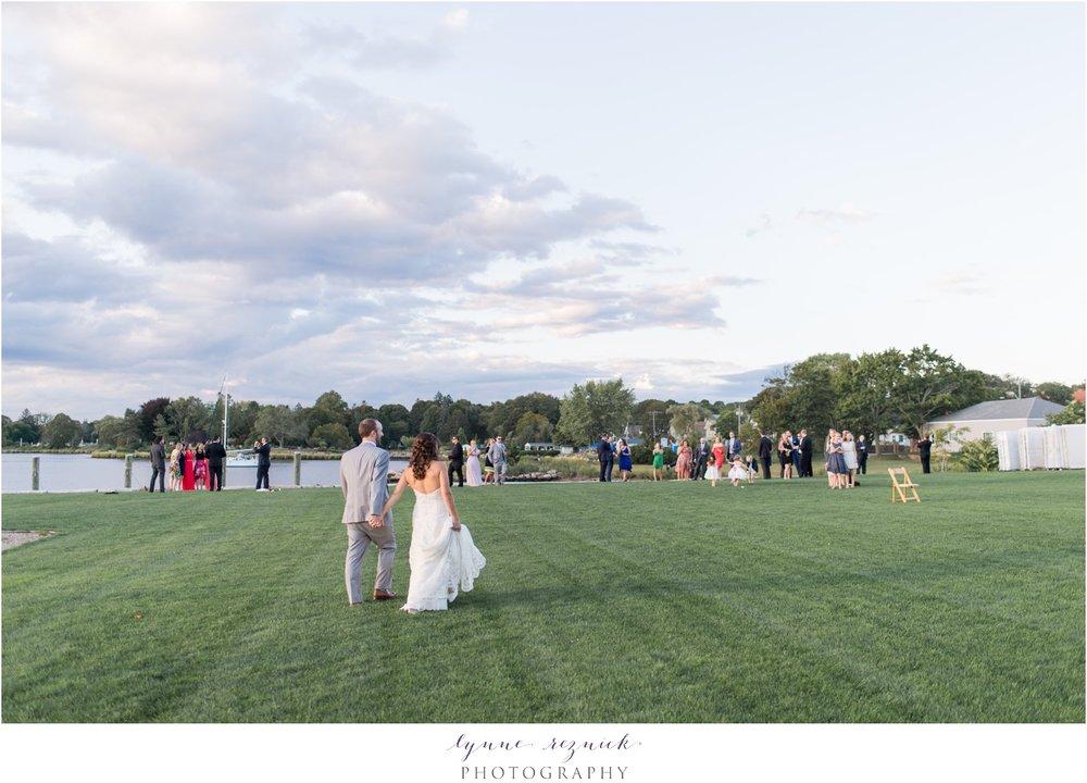 sunset wedding reception at latitude 41 in mystic CT