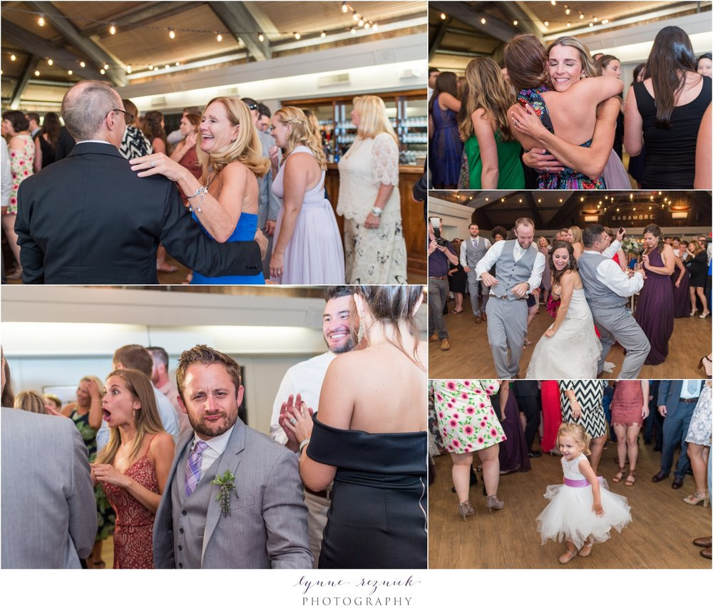 party and dancing at Mystic Seaport Wedding