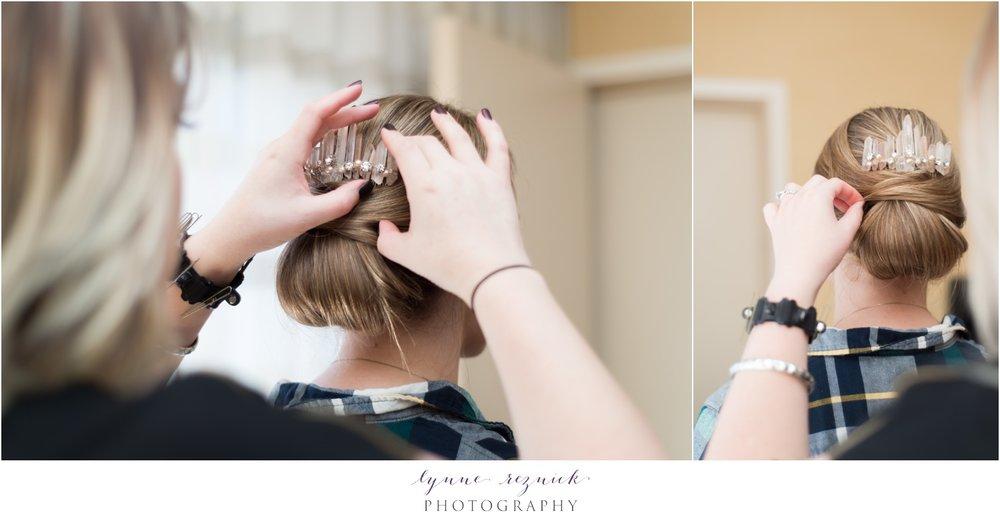 Emma Katzka bridal hair pin rose quartz
