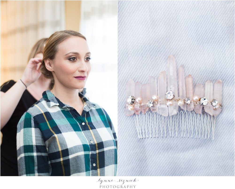 Taglio salon bridal hair and emma katzka rose quartz hair pin