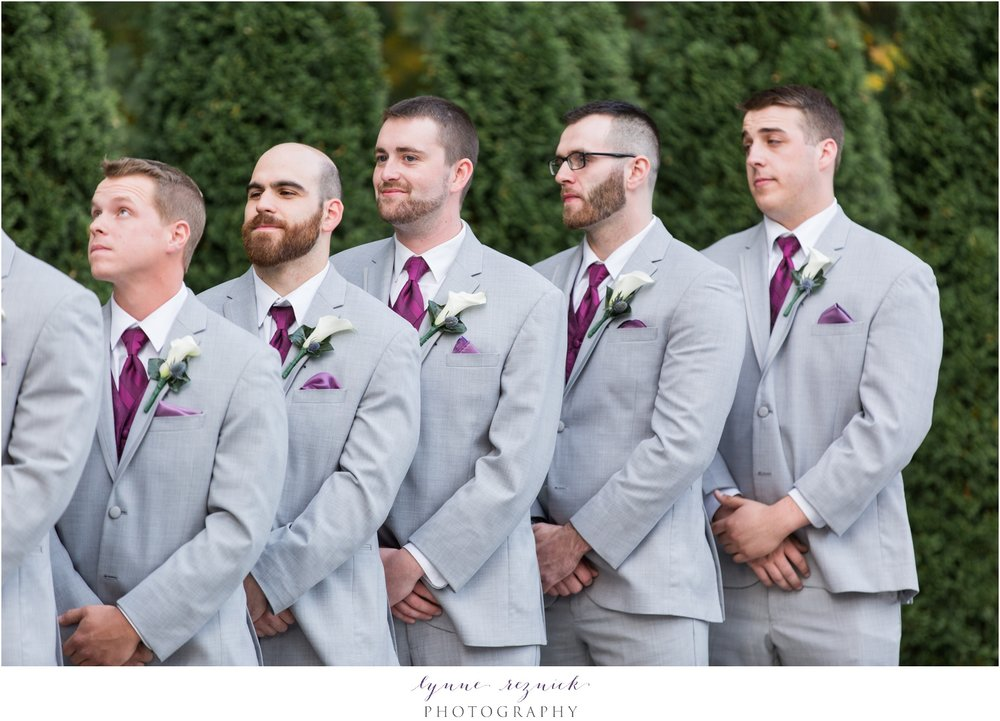 gray suits and fall flowers by studio one twenty three west for saphire estate wedding
