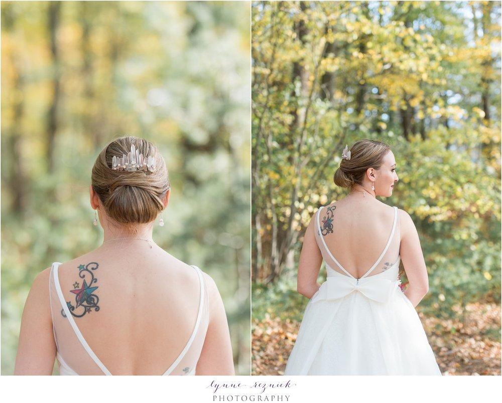 emma katzka rose quartz hair pin tiara and white by vera wang wedding dress with bow