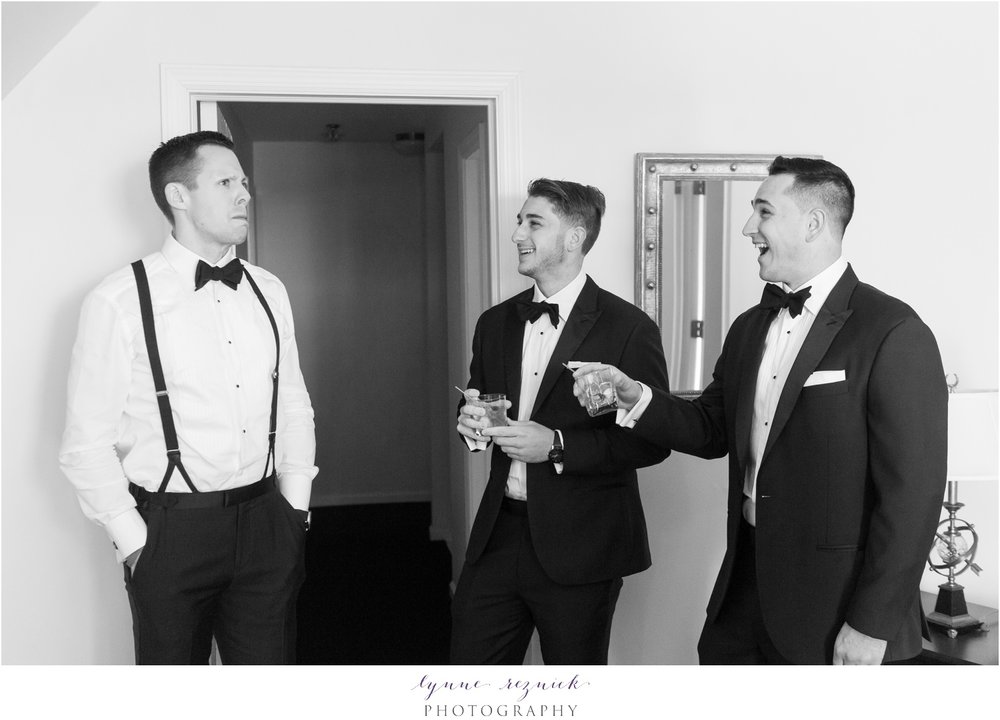 Stamford yacht club shoreline wedding guys getting ready