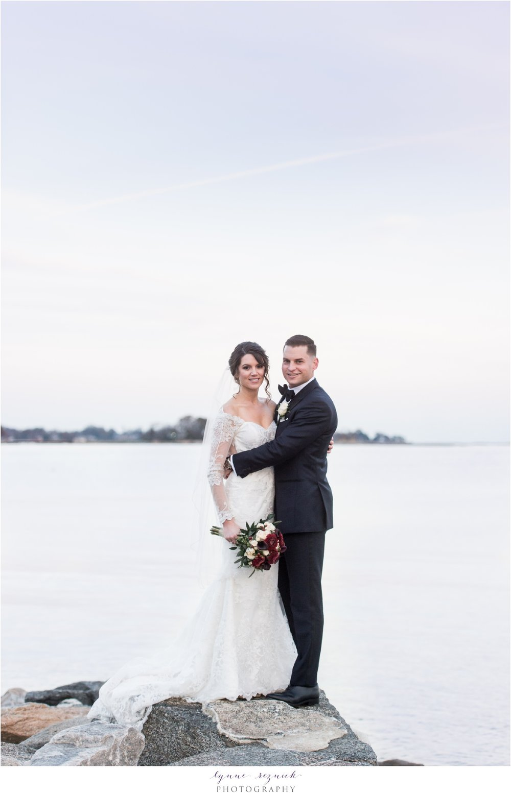 Yacht Club Shoreline Wedding Portraits