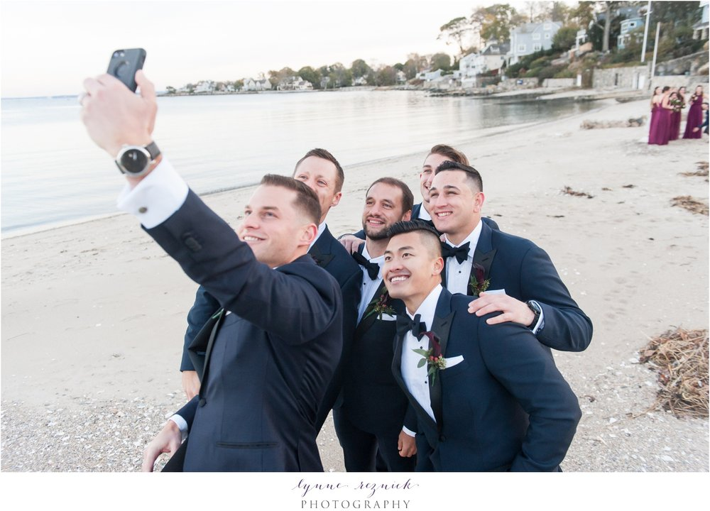 yacht club wedding day selfie