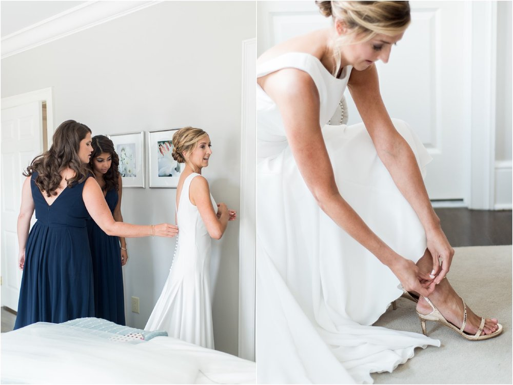 preppy chic bride gets ready at delamar southport hotel