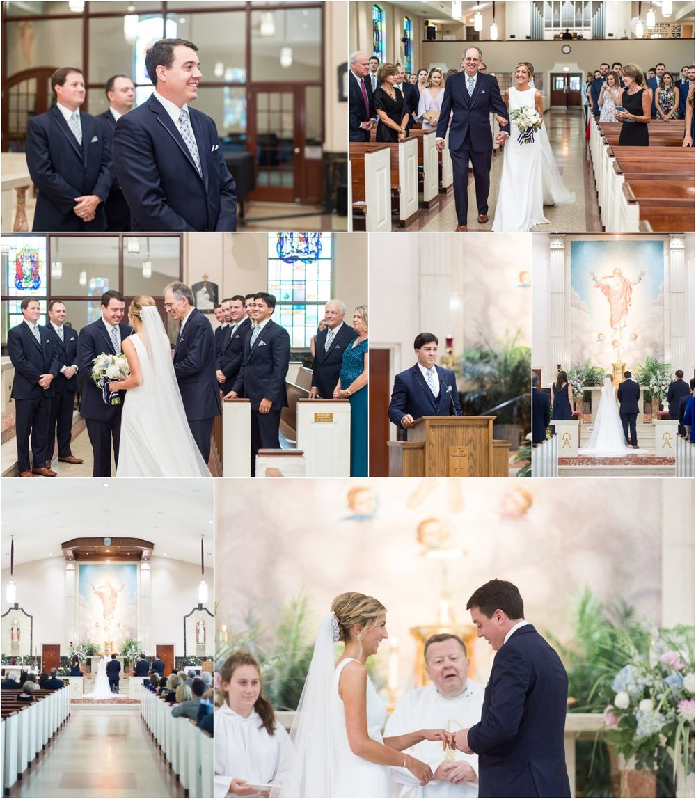 preppy chic Patterson Club wedding