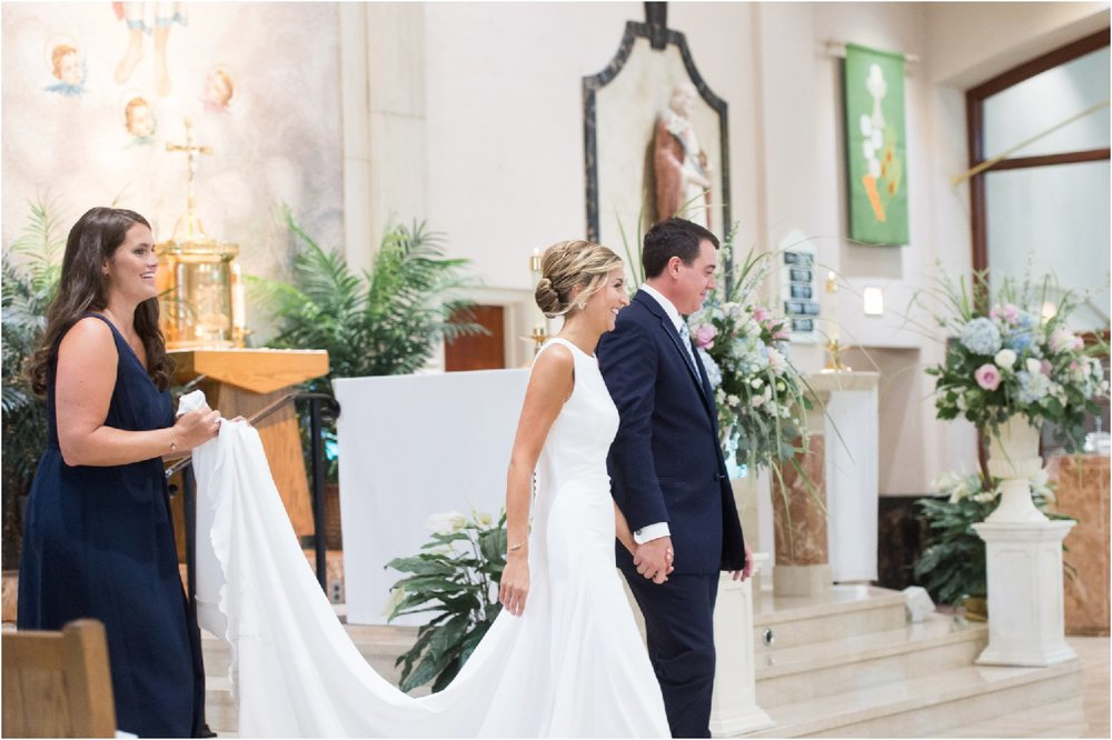 bride and groom preppy chic Patterson Club wedding