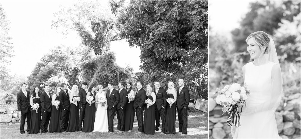 black and white patterson club bride and bridal party