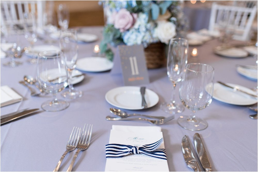 preppy chic patterson club centerpieces and reception details