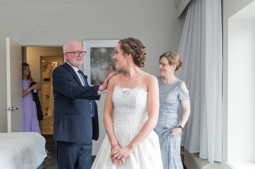 parent reveal with bride for spring saphire estate wedding