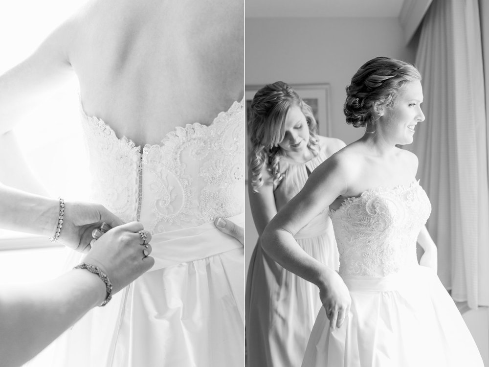 black and white getting ready classic portraits  boston bride