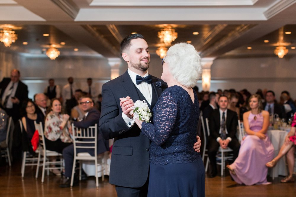 mother son dance at saphire estate - upscale wedding venue in MA