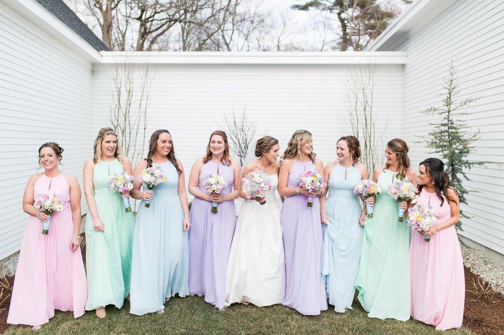 pastel spring bridesmaids dresses
