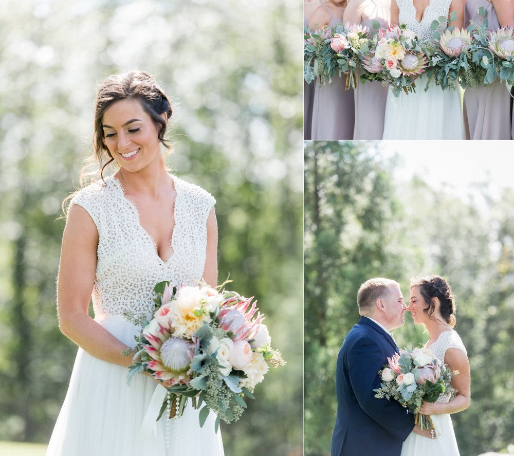 proteas bridal bouquet inspiration for wedding planning
