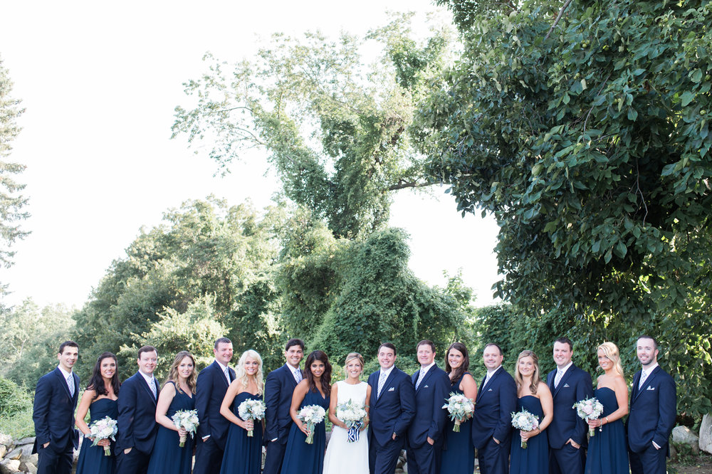 navy periwinkle preppy chic wedding party summer color palette