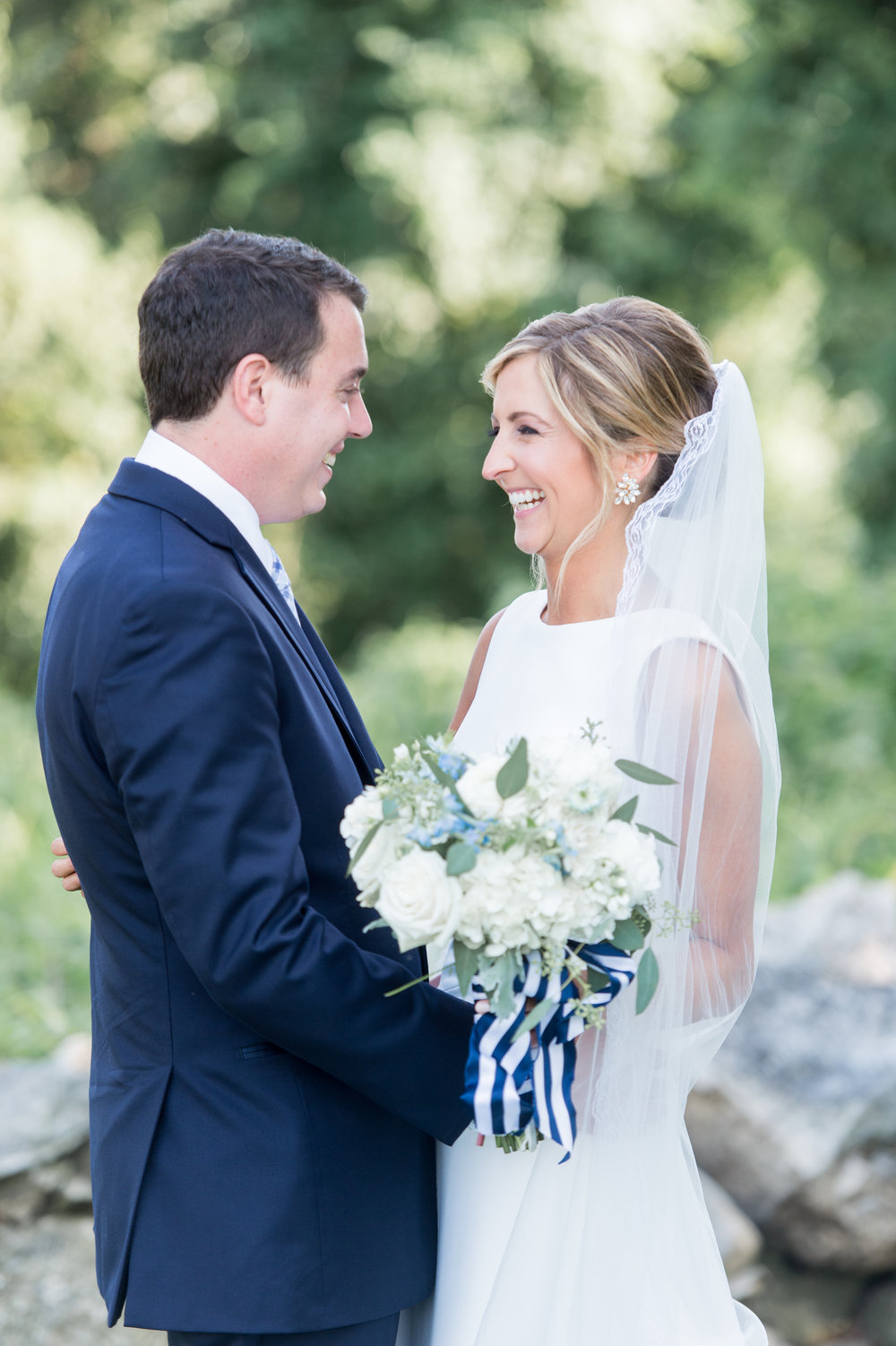 navy periwinkle preppy nautical summer wedding color palette inspiration