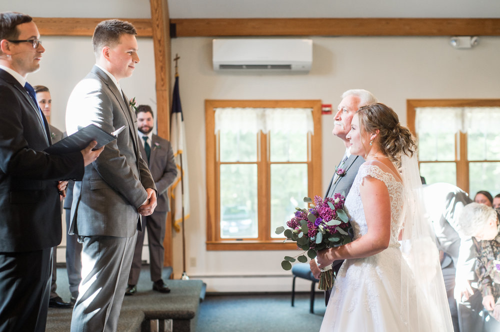 rustic chic wedding at grace community evangelical free church