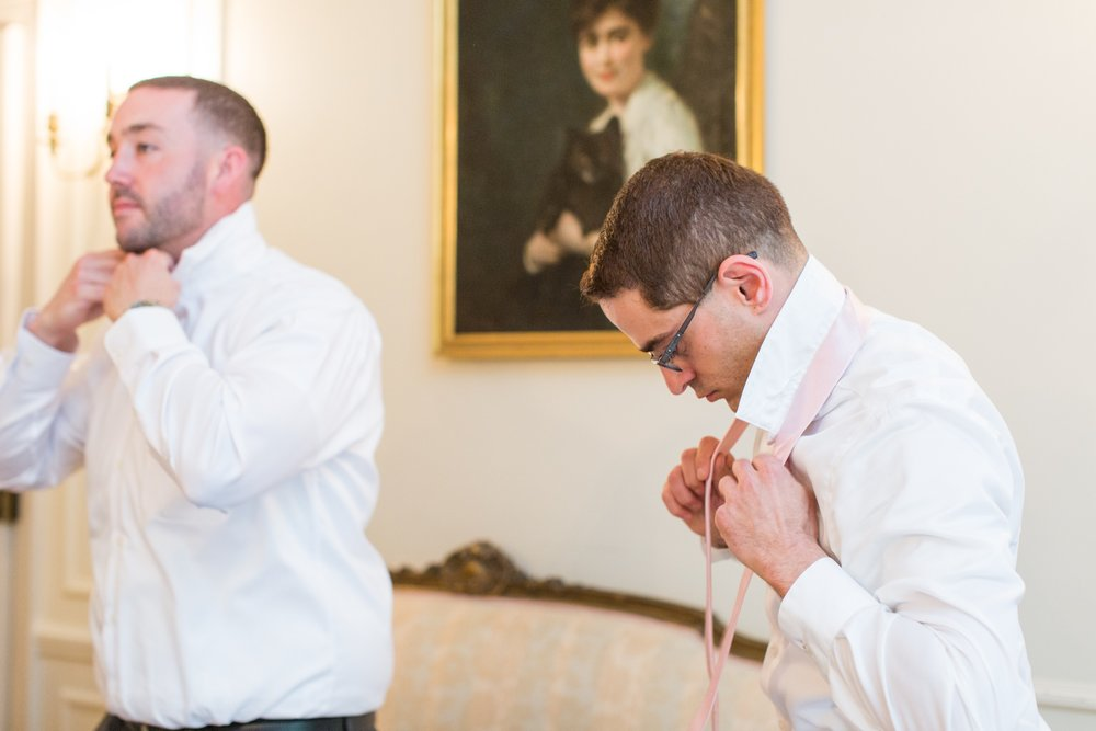 glen manor house wedding groomsmen getting ready