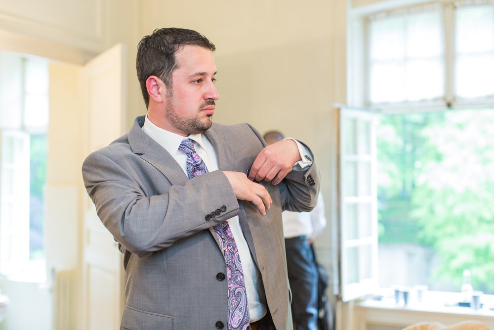 glen manor house wedding groom getting ready