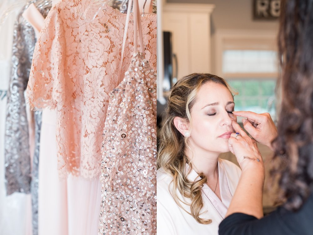 glen manor house wedding blush dresses and sequins makeup by jessica d'amore