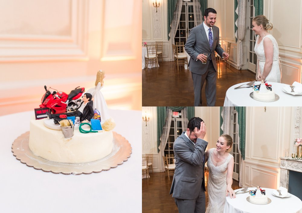 glen manor house wedding grooms cake surprise from bride