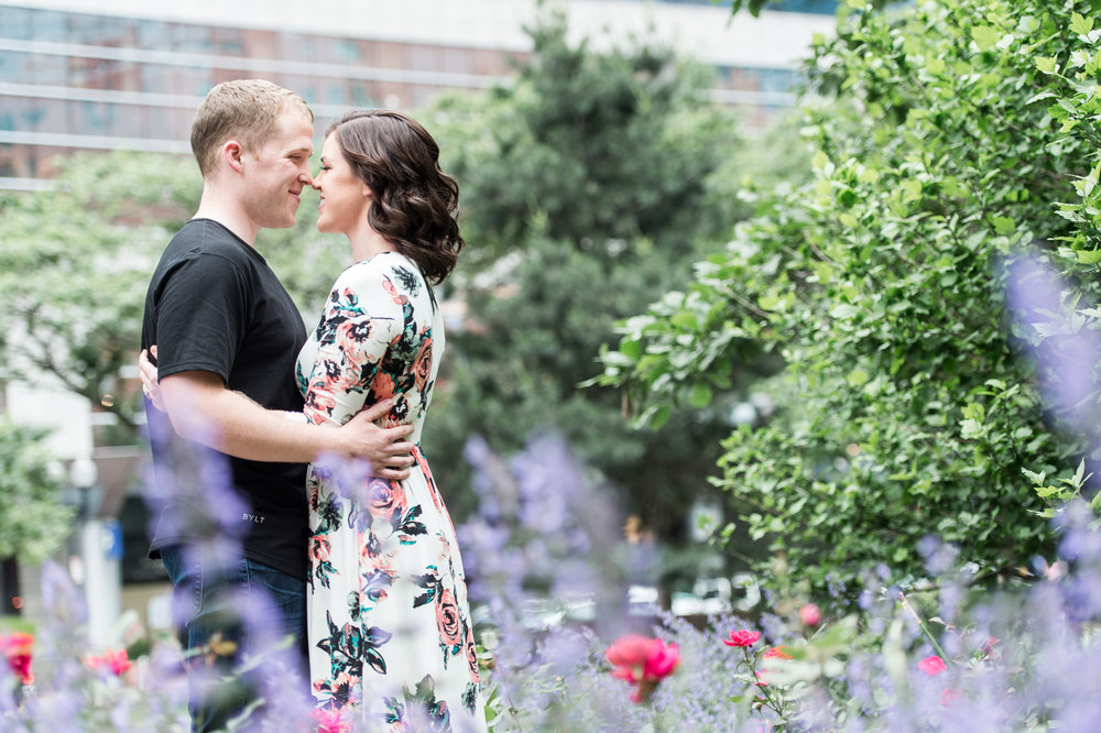 Boston Engagement Session Rose Kennedy Greenway