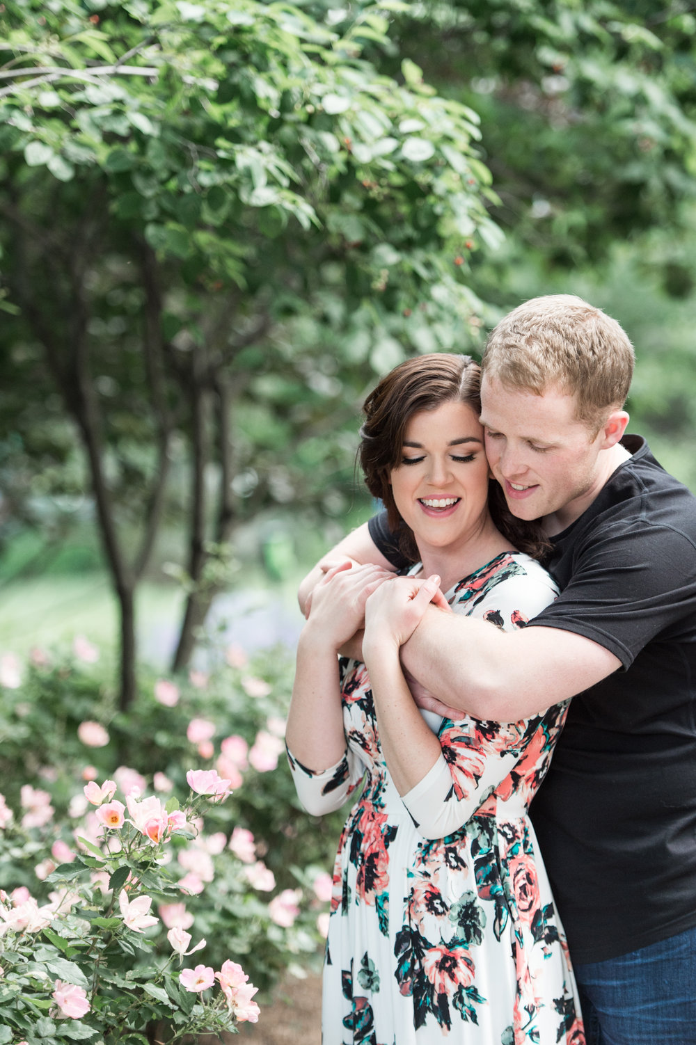boston engagement session rose kennedy greenway flowers floral dress maricruz hairstyles glamour cosmetics hugging
