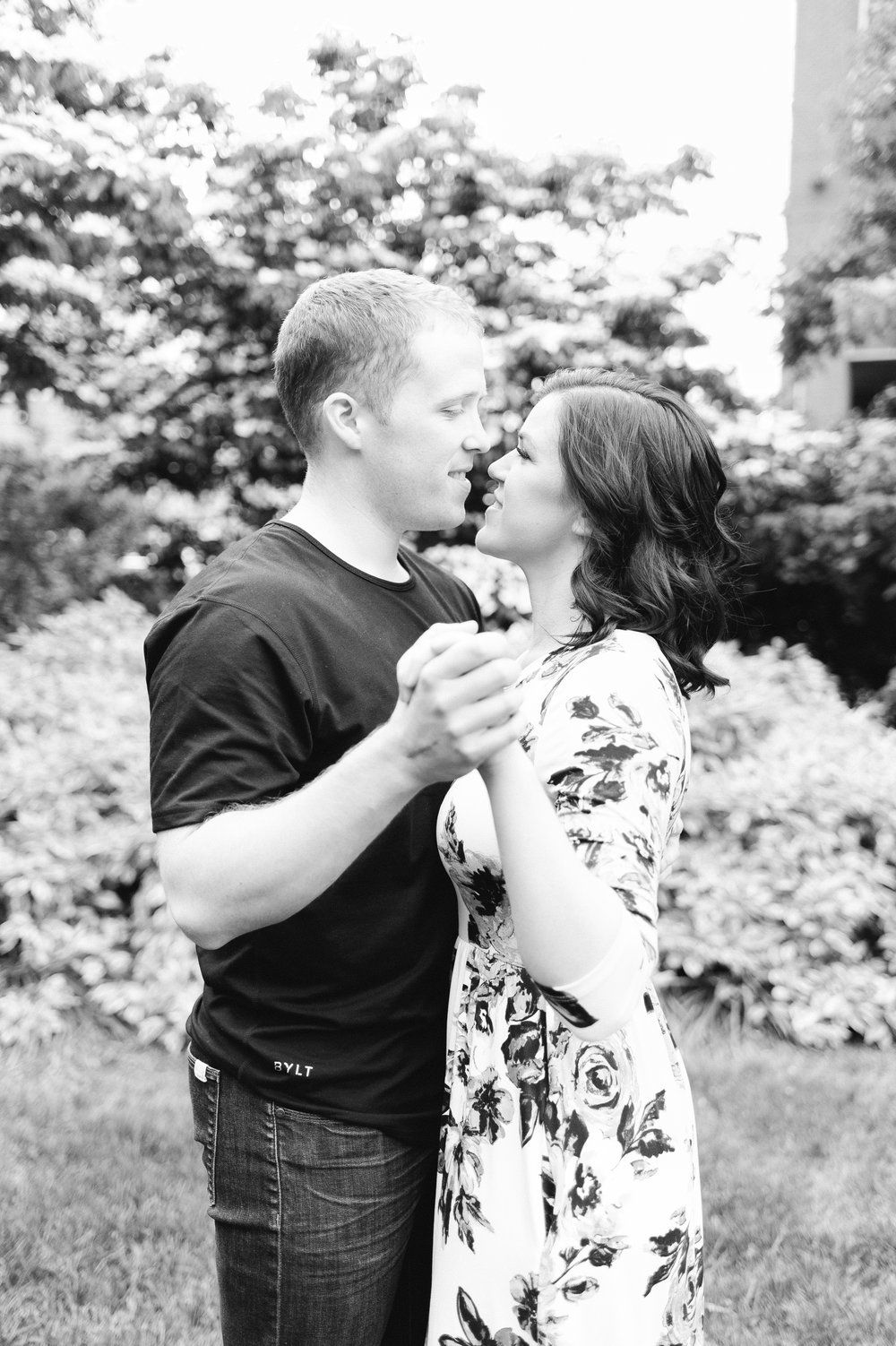 boston engagement session rose kennedy greenway flowers floral dress maricruz hairstyles glamour cosmetics black and white