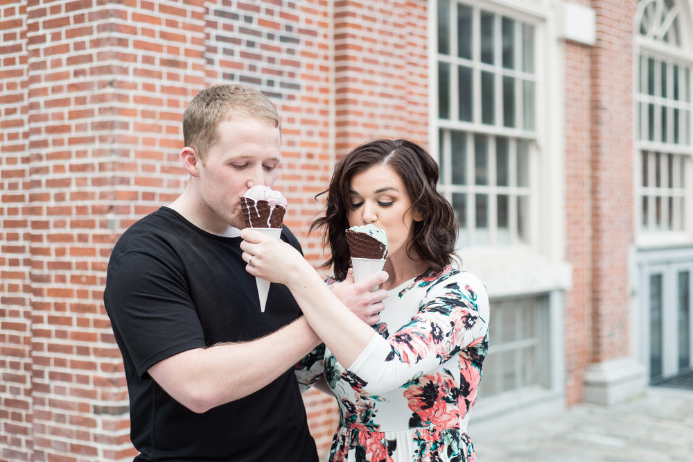 boston engagement session rose kennedy greenway and faneuil hall ghirardhelli ice cream