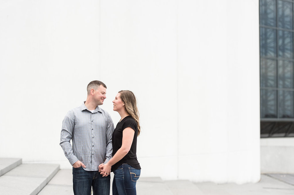 JFK library steps engagement session boston