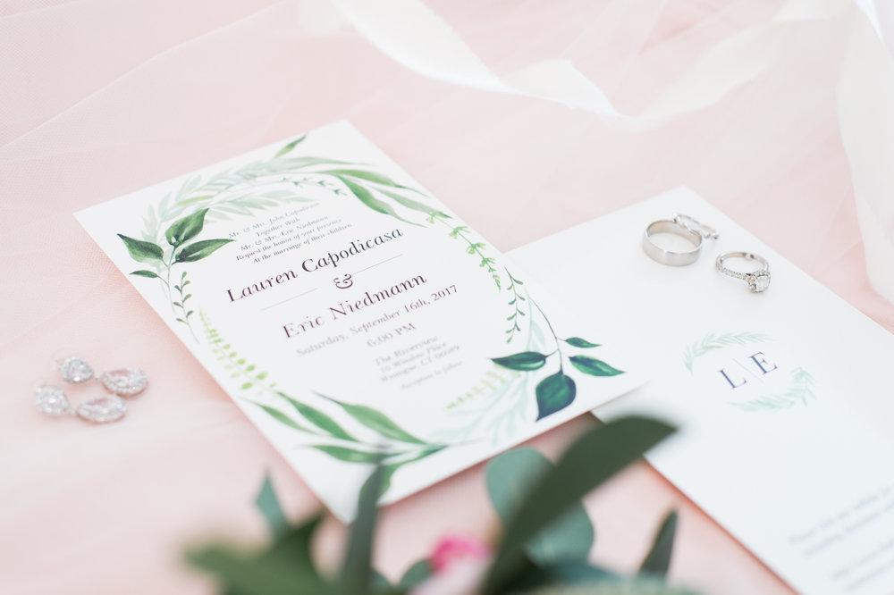 Lauren & Eric's Wedding Invite