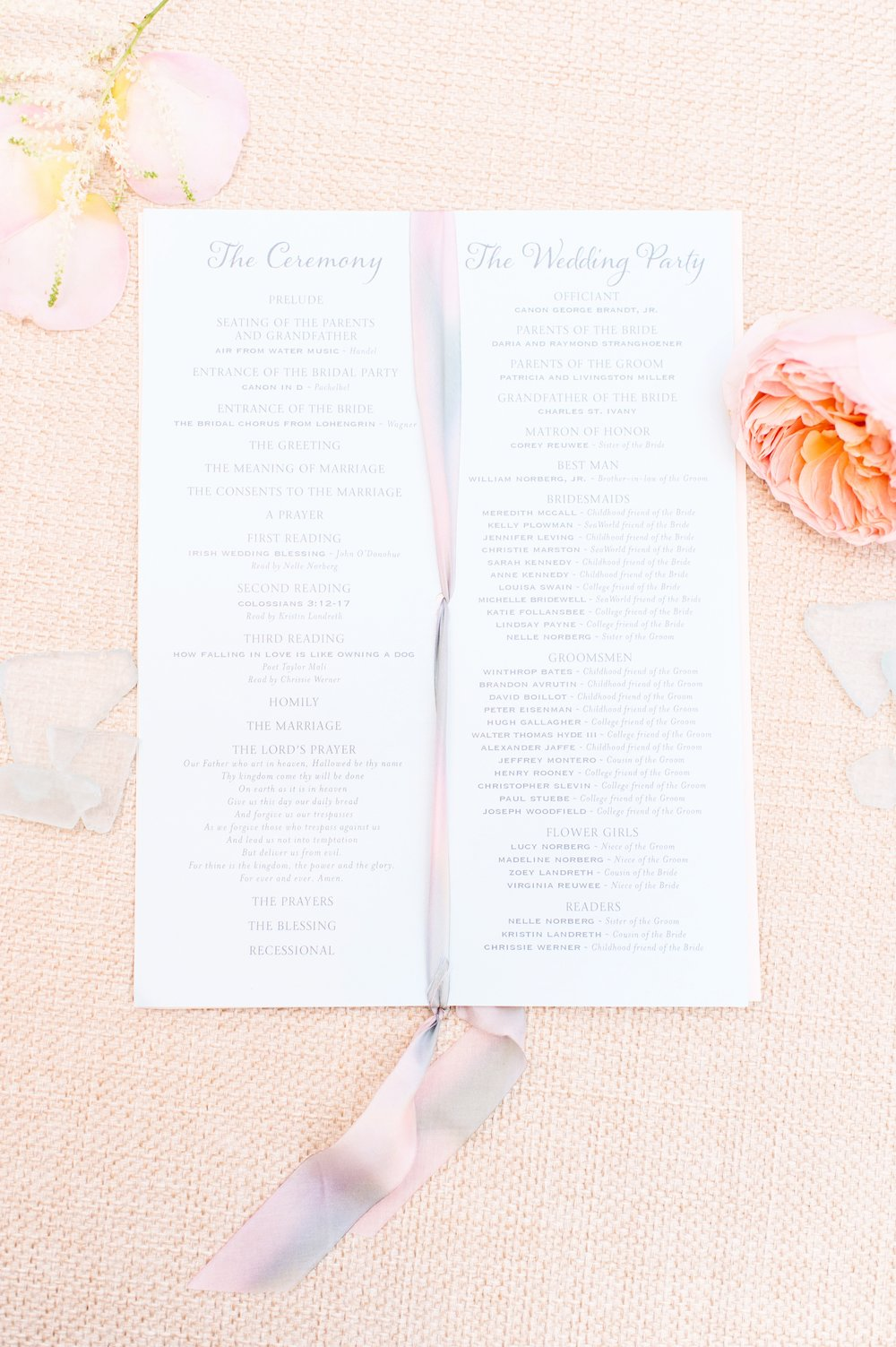 Mary & Andrew's Ceremony Program