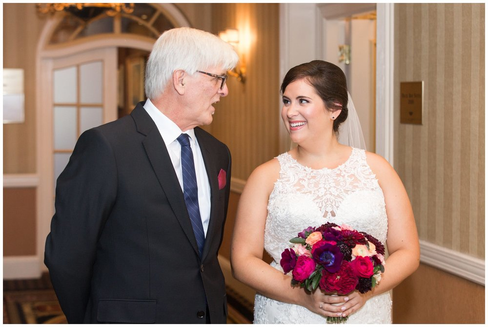 Lenox Hotel Boston Wedding bride and her father